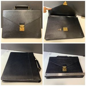 310a3355b295 Black Epi Ambassador Briefcase Business Bag.  655  0. Size  OS · Louis  Vuitton